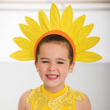 flower headdress yellow sun flower headdress dazzle dancewear ltd