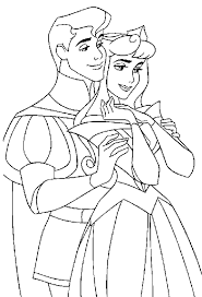 sleeping beauty coloring pages phillip aurora coloring4free