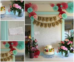 Decoration Ideas For Birthday Party At Home My Mom U0027s 60th Birthday Party Joyfully Home