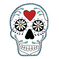 best skull clip black and white images