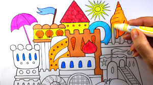 castle coloring castle coloring pages youtube