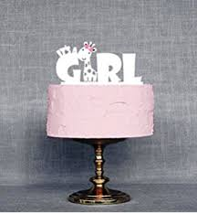 baby shower cake toppers girl plastic it s a girl baby shower cake topper kitchen