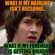 Receding Hairline Meme - conspiracy keanu meme imgflip