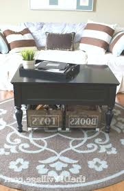 coffee table with baskets under under table storage table simple under e table storage baskets on a