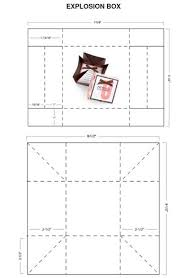 patterns and templates box with lid