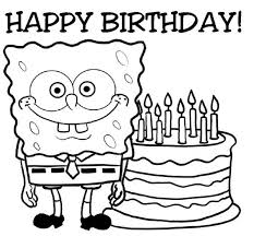 happy birthday coloring card happy birthday coloring pages for coloring pages 4736