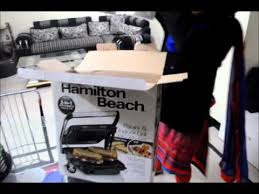 CreateFearlessly Hamilton Beach Unboxing of Panini Press Indoor