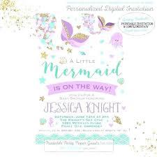 mermaid baby shower invitations mermaid baby shower invitation wording for invitation baby shower
