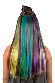 teal hair extensions rainbow hair 6 pieces clip on hair extensions
