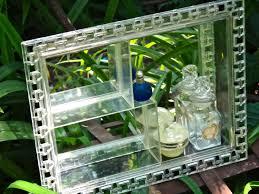 1950s Decor Nu Dell Shadow Box Hollywood Regency 1950s Decor Mirror