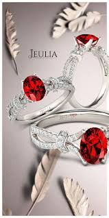 Jeulia Wedding Rings by Best 25 Ruby Engagement Rings Ideas Only On Pinterest Gemstone