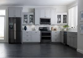 Black Cabinets White Countertops Elegant Kitchen Featuring Black Cabinets With White Countertops