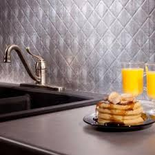 Fasade Backsplash Panels Reviews by Fasade 24 In X 18 In Quilted Pvc Decorative Backsplash Panel In