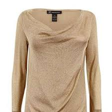 metallic gold blouse 64 inc international concepts tops i n c womens gold
