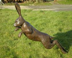 sculpture harespring 1 mad march hares running and jumping