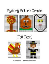 thanksgiving math mystery picture graphs fall packing autumn