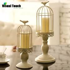 cheap lantern centerpieces visual touch set of 2 birdcage candlestick holder candle stand