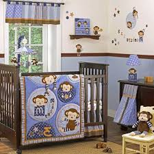 Boy Monkey Crib Bedding Monkey Crib Bedding Sets For Boys Themed Set Green Home Design