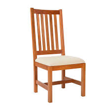 Solid Wood Dining Chairs Grand Mission Dining Room Chair Natural Cherry Real Solid Wood