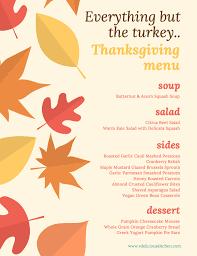 everything but the turkey thanksgiving menu rdelicious kitchen