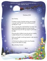 personalized letter from santa personalized letters from santa personalized santa letters