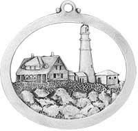 finely detailed pewter lighthouse ornaments made in the usa