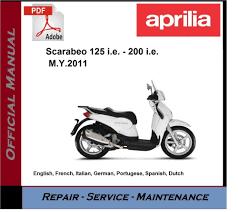 aprilia scarabeo 125 i e 200 i e workshop service repair manual