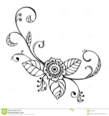 sketch floral ornament stock images image 35758784