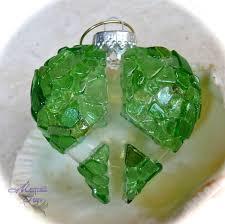 sea glass ornament peace sign christmas decor made in hawaii