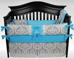 Gray And Turquoise Bedding Turquoise Bedding Etsy