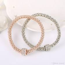 gold bracelet charms images Wholesale 18k rose gold bracelet for pandora charm jewelry bead jpg