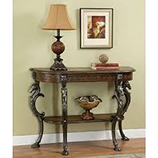 8 Foot Sofa Table Amazon Com Powell Masterpiece Floral Demilune Console Table With