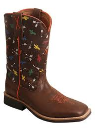 twisted x s boots brn w arrow cactus print boots and hats
