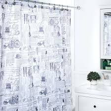 Home Classics Shower Curtain At Home Shower Curtains At Home Polyester Black White Shower