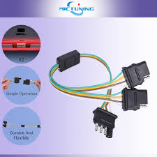 trailer splitter 2 way 4 pin y split wiring harness adapter for