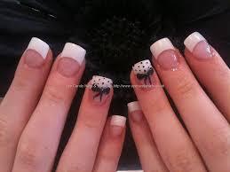 25 nail designs with white tips easy white tip nail art design