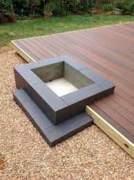 Bbq Side Table Plans Fire Pit Design Ideas - neat idea modern platform deck and fire pit design how would
