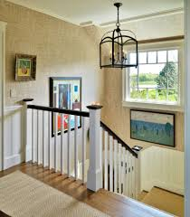 circa lighting staircase with banisters beige wallcovering