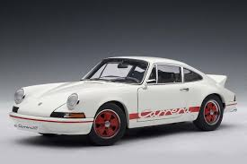 Autoart 1 18 Scale Porsche 911 Carrera Rs 2 7 1973 White W Red