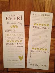 printed programs diy wedding programs where did you send yours to get printed