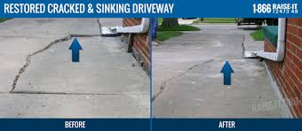 concrete driveway sinking repair concrete raising in michigan oakland and macomb counties