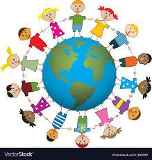 children around the world royalty free vector image