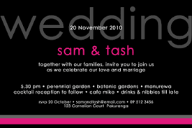 wedding invitations new zealand simple modern wedding invitation design
