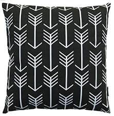 Black Sofa Pillows by Amazon Com Jinstyles Arrow Cotton Canvas Decorative Throw Pillow
