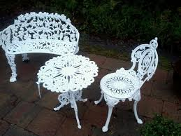 Cast Iron Bistro Chairs Antique Cast Iron Patio Garden Set Antique Cast Iron Garden