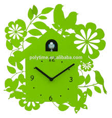 modern cuckoo clock with bird come out a good decorative wall