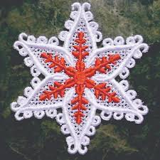 create ornaments out of lace machine embroidery designs