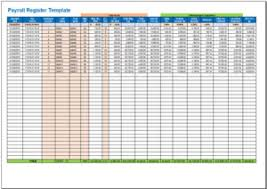 free payroll register template in excel