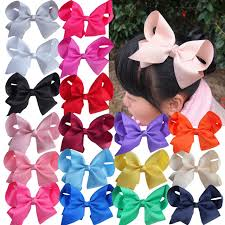 6 inch large hair bow with children hairbows