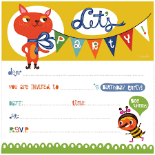 Design An Invitation Card Birthday Invitations Printable Blueklip Com
